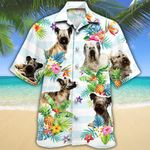 Skye Terrier Dog Lovers Tropical Flower Hawaiian Shirt