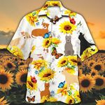 American Staffordshire Terrier Dog Lovers Sun Flower Hawaiian Shirt