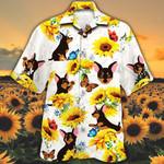 Miniature Pinscher Dog Lovers Sun Flower Hawaiian Shirt