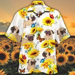 Pug Dog Lovers Sun Flower Hawaiian Shirt