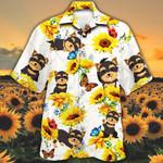 Yorkshire Terrier Dog Lovers Sun Flower Hawaiian Shirt