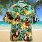 Bloodhound Dog Lovers Pineapple Hawaiian Shirt