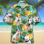 Bull Terrier Dog Lovers Pineapple Hawaiian Shirt