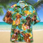 Dachshund Dog Lovers Pineapple Hawaiian Shirt