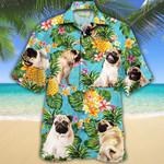 Pug Dog Lovers Pineapple Hawaiian Shirt
