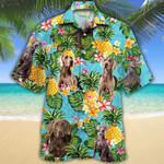 Weimaraner Dog Lovers Pineapple Hawaiian Shirt