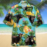 Black Angus Cattle Lovers Pineapple Hawaiian Shirt