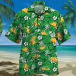 Tacos Lovers Green Floral Hawaiian Shirt
