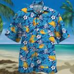 Tacos Lovers Blue Floral Hawaiian Shirt