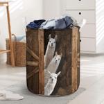 Llama Funny Sneaky Farm Lovers Laundry Basket
