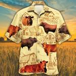 Red Angus Cattle Lovers Farm Hawaiian Shirt