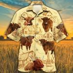 Highland Cattle Lovers Farm Hawaiian Shirt
