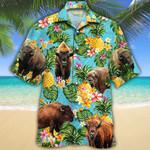 Bison Lovers Pineapple Hawaiian Shirt
