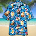 Cupcake Lovers Blue Floral Hawaiian Shirt