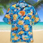 Apple Pie Lovers Blue Floral Hawaiian Shirt