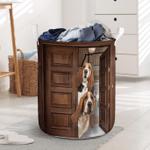 Basset Hound Dog Lovers Funny Laundry Basket