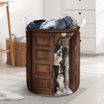 Border Collie Dog Lovers Funny Laundry Basket