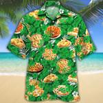 Apple Pie Lovers Green Floral Hawaiian Shirt