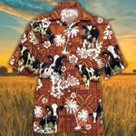Holstein Friesian Cattle Lovers Red Tribal Hawaiian Shirt