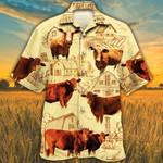 Beefmaster Cattle Lovers Farm Hawaiian Shirt