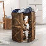Simmental Cattle Funny Sneaky Farm Lovers Laundry Basket