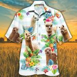 Alpaca Lovers Tropical Flower Hawaiian Shirt
