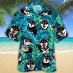 Shiba Inu Black Dog Lovers Hawaiian Shirt