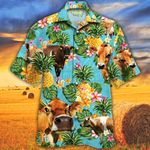 Jersey Cattle Cattle Lovers Pineapple Hawaiian Shirt