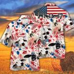 Brahman Cattle Lovers American Flag Hawaiian Shirt