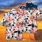 Brahman Cattle Lovers Australian Flag Hawaiian Shirt
