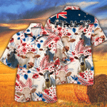 Charolais Cattle Lovers Australian Flag Hawaiian Shirt