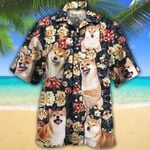 Shiba Inu Dog Lovers Green Plaid Pattern Hawaiian Shirt