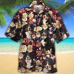 Bernese Mountain Dog Lovers Red Plaid Pattern Hawaiian Shirt