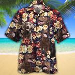 Chesapeake Bay Retriever Dog Lovers Red Plaid Pattern Hawaiian Shirt