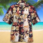 Shiba Inu Dog Lovers Red Plaid Pattern Hawaiian Shirt