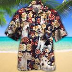 Wire Fox Terrier Dog Lovers Red Plaid Pattern Hawaiian Shirt