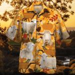 Sheep Lovers Orange Nature Autumn Hawaiian Shirt