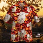 Sheep Lovers Autumn Red Leaves Hawaiian Shirt