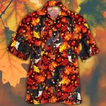Bull Terrier Dog Lovers Autumn Red Leaves Hawaiian Shirt