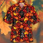 Dachshund Dog Lovers Autumn Red Leaves Hawaiian Shirt