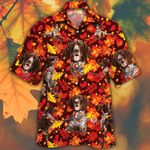 German Shorthaired Pointer Dog Lovers Autumn Red Leaves Hawaiian Shirt