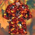 Miniature Bull Terrier Dog Lovers Autumn Red Leaves Hawaiian Shirt
