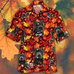 Staffordshire Bull Terrier Dog Lovers Autumn Red Leaves Hawaiian Shirt