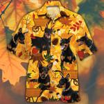 Miniature Pinscher Dog Lovers Orange Nature Autumn Hawaiian Shirt