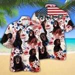 Gordon Setter Dog Lovers American Flag Hawaiian Shirt