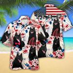 Schipperke Dog Lovers American Flag Hawaiian Shirt