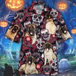 English Mastiff Dog Lovers Sugar Skull Floral Hawaiian Shirt
