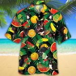 Miniature Bull Terrier Dog Lovers Tropical Fruits Hawaiian Shirt