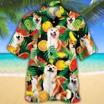 Shiba Inu Dog Lovers Tropical Fruits Hawaiian Shirt