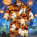 Charolais Cattle Lovers Halloween Pumpkin Hawaiian Shirt